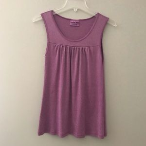 Michael Stars Shine Tank Purple One Size Fits Most